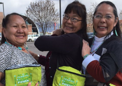 Margilene Barney, Yolanda Ellis-Bileen, Lena Guerito (Diné/Navajo)